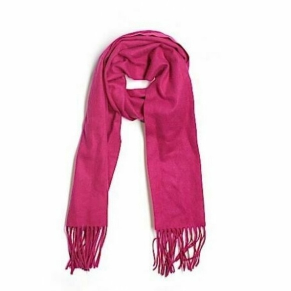 Enzo Angiolini Accessories - New Enzo Cranverry Cashmere Wool Blend Scarf